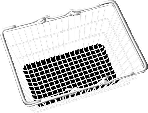 ECommerce Basket Metal Graphic Design