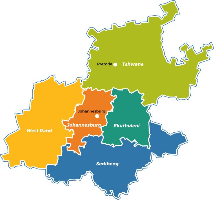 Johannesburg Gauteng Regions