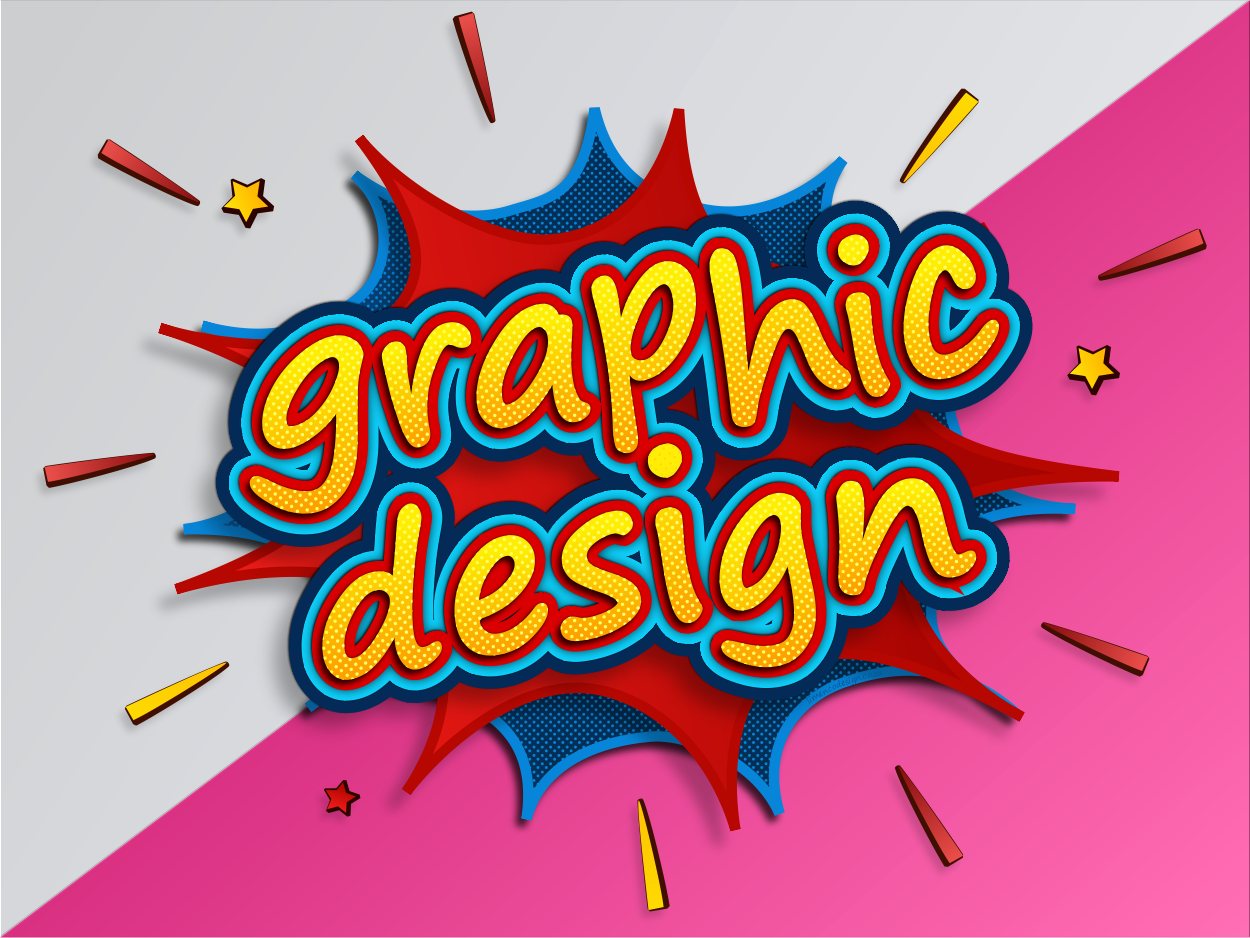 Superhero Style Pop Art Graphic Design