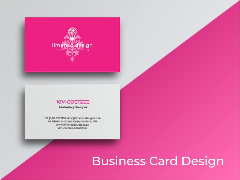 Business Card Design Website and Graphic Design Agency in South Africa