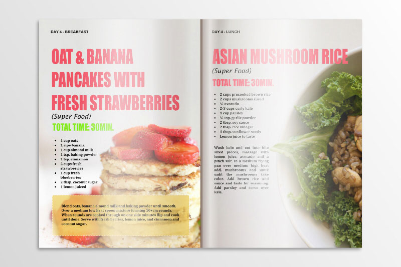 Recipe Book Design Website and Graphic Design Agency in South Africa